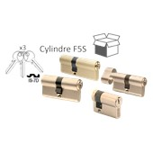 Photo de CYLINDRE F5S LAITON VARIES AVEC 3 CLES