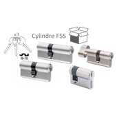 Photo de CYLINDRE F5S NICKELES VARIES AVEC 3 CLES