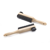 Photo de BROSSE CRIN DOUBLE FACE Noire  CIRAGE + LUSTRAGE... BR25N