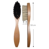 Photo de BROSSE CIRAGE OVALE BLANCHE    BR2B
