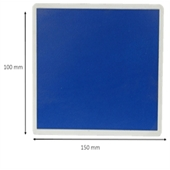 Photo de PLAQUE 140 X 120 BLEU (SANS IM EMBOUTIR DOUBLE ALU