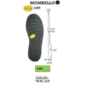 Photo de SEMELLE MOMBELLO REF 1685 VIBRAM NOIR